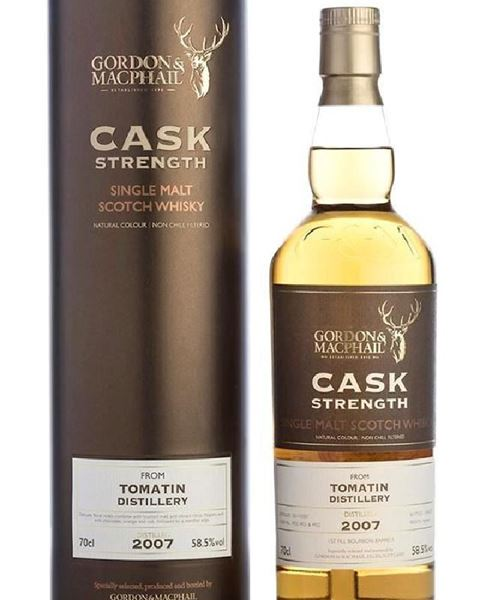 Picture of Gordon & MacPhail 2007 Tomatin 8 year old Cask Strength