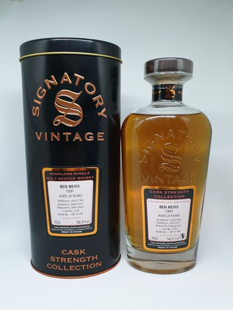 Picture of Signatory Vintage 1991 Ben Nevis Cask Strength