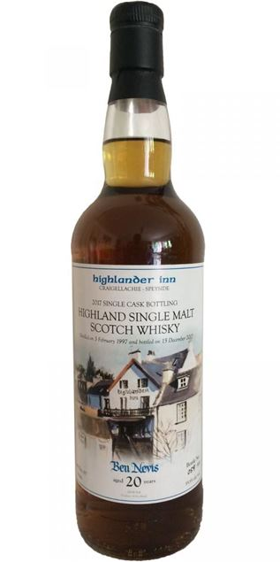Highlander Inn Single Cask Bottling 2017 Ben Nevis Aged 20 Years