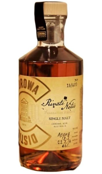 "Corowa Distilling Co. ""Private Notes"" Sherry Cask"
