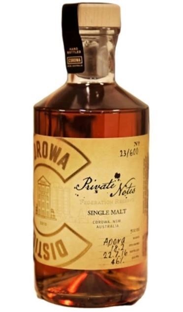 """Corowa Distilling Co. """"Private Notes"""" Sherry Cask"""