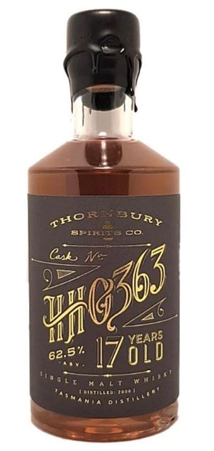 Thornbury Spirits Sullivans Cove American Oak 62.5% 17 YO 500ml HH0363