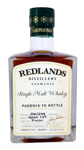 Redlands Distillery - The last  'Paddock to Bottle' RD010 Single Malt Whisky 500ml 46%