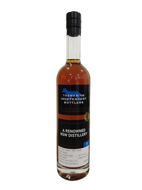Picture of Tasmanian Independent Bottlers A Renowned NSW Distillery Release No. 3 Sherry Cask (500ml)