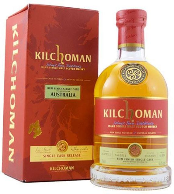 Picture of Kilchoman Single Cask, Rum Cask #163 bottled for Dram Full Australia
